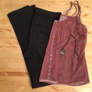 BANANA REPUBLIC Black Wash Skinny Jean
